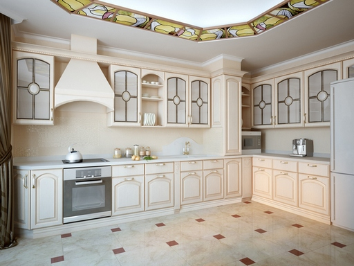 gray classic 3d kitchen from visualife